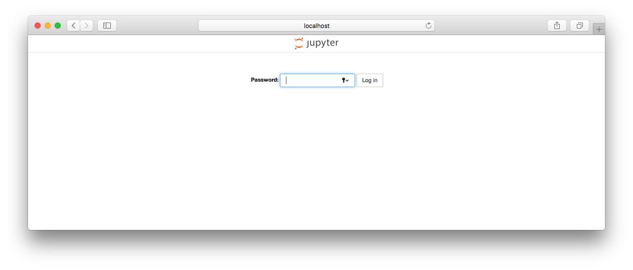 Jupyter password dialog